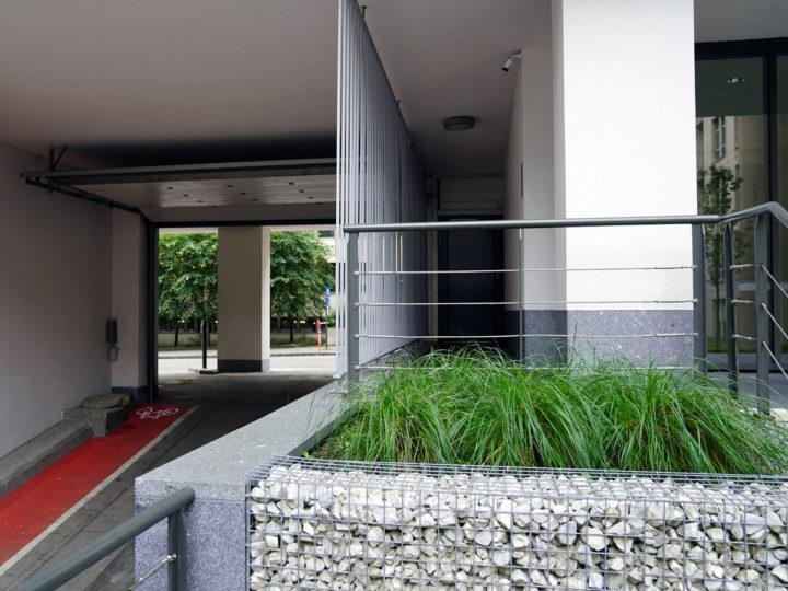 verharding dak groendak met bomen en beplanting livingstone brussel