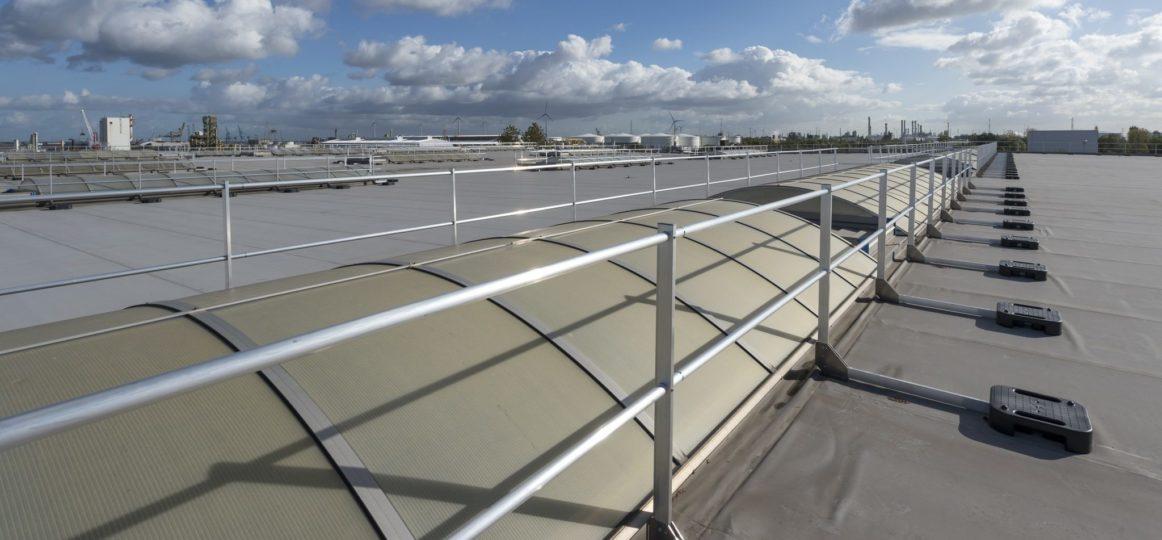 dakhekwerk als valbeveiliging op plat dak