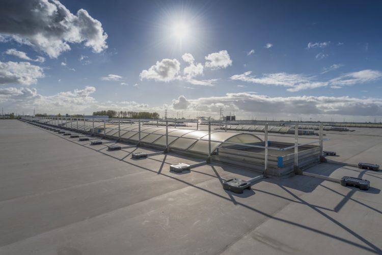 hekwerk als valbeveiliging op plat dak