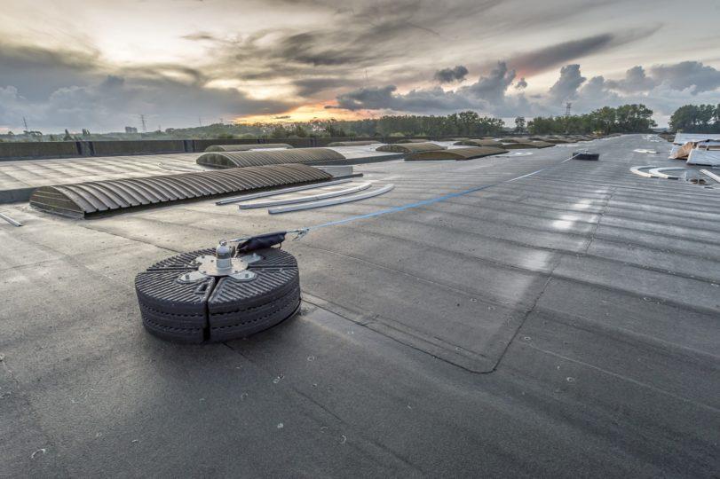 ancrages toit plat