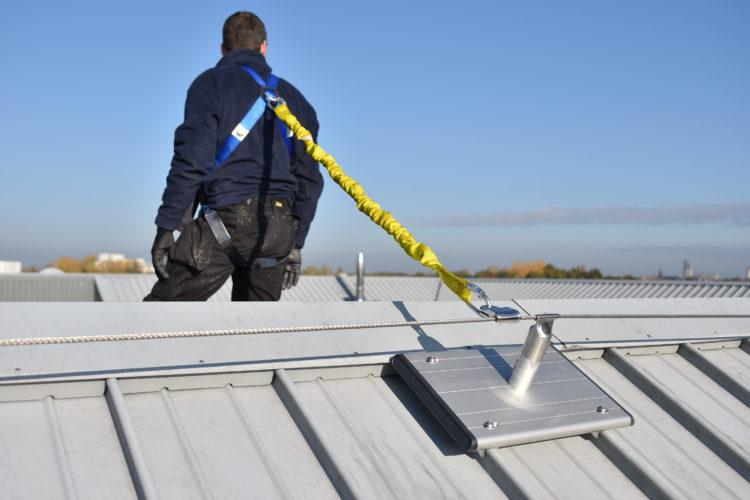 leeflijn op hellend dak
