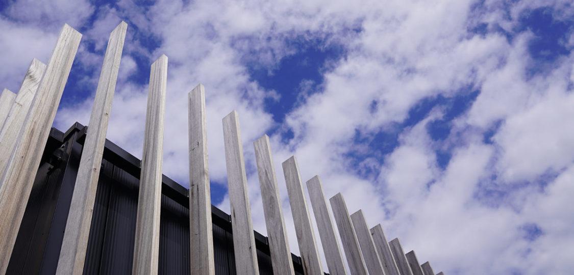gebouw afgewerkt met hout
